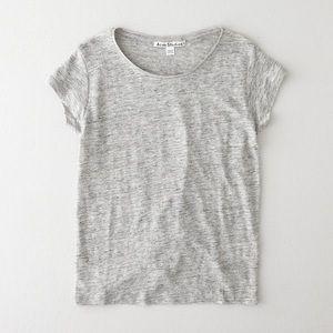 ACNE STUDIOS linen tshirt
